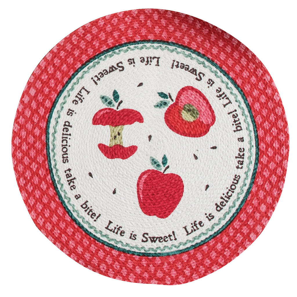 Happy Apple Round Placemat