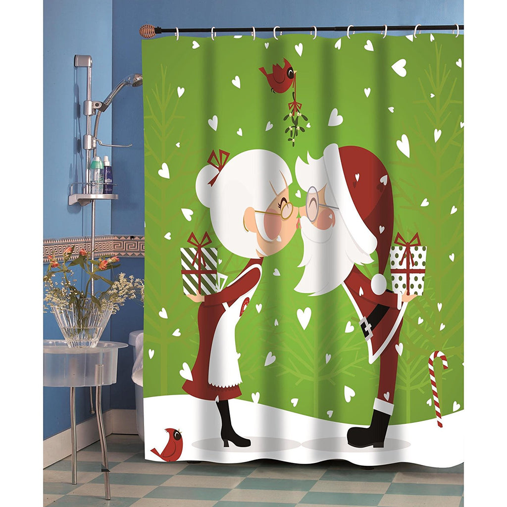 Kissing Claus Shower Curtain