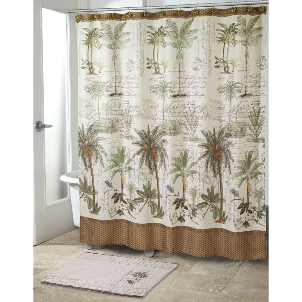 Palm shower curtain - Colony Palm Shower Curtain