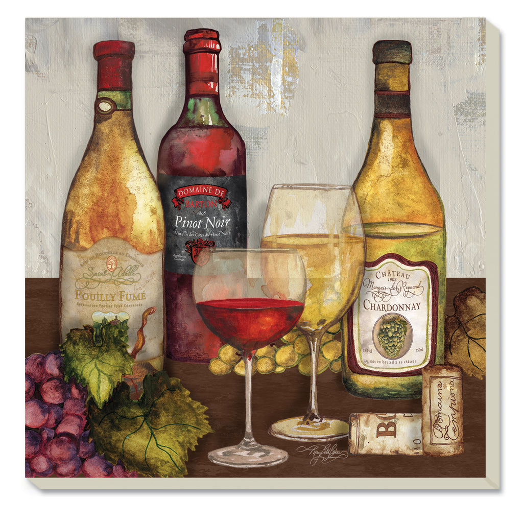 Wine Time Square Coasters