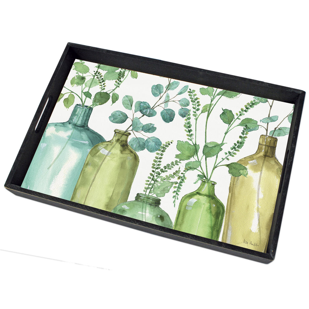 Greenery Wooden Serving Tray