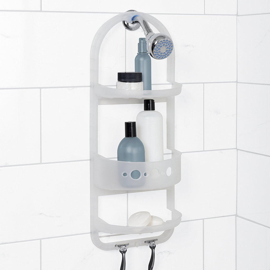 LARGE FROSTED SHOWER CADDY 5890KK