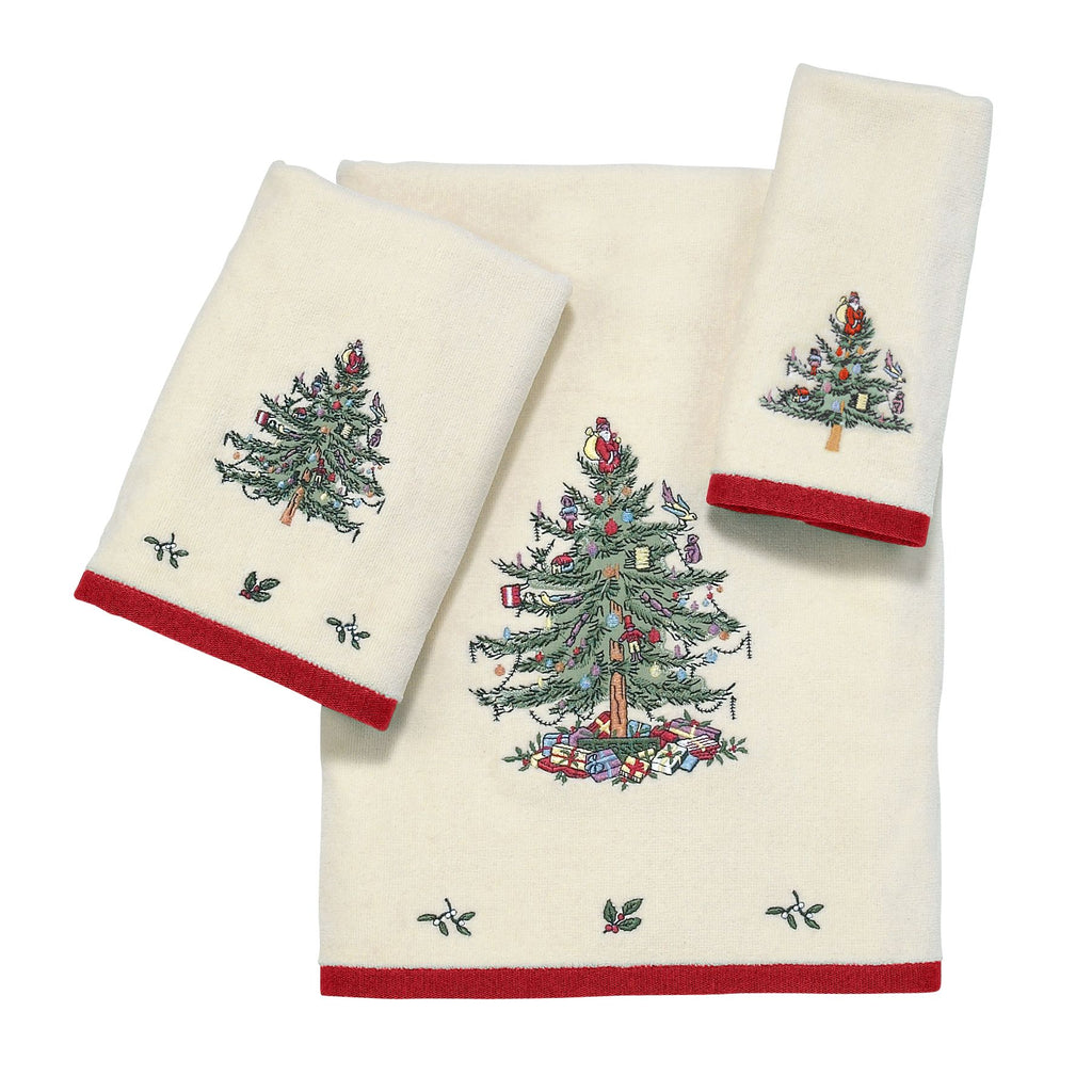 SPODE CHRISTMAS TREE TOWELS