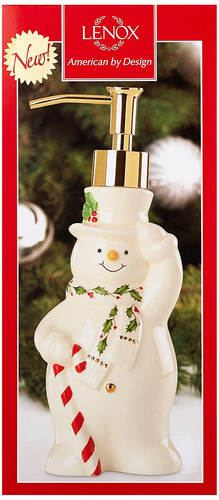Lenox Happy Holly Days Snowman Soap Pump
