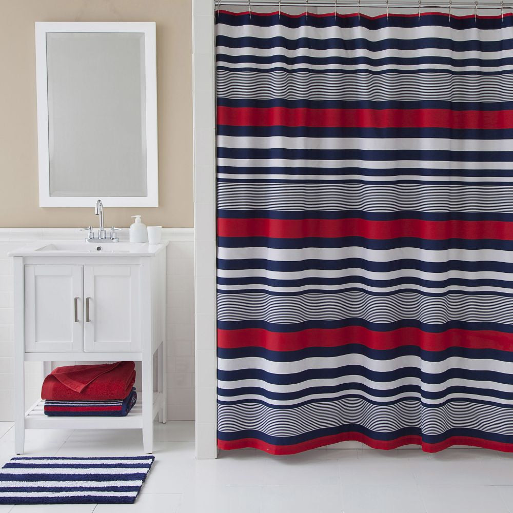 IZOD VARSITY STRIPE SHOWER CURTIAN