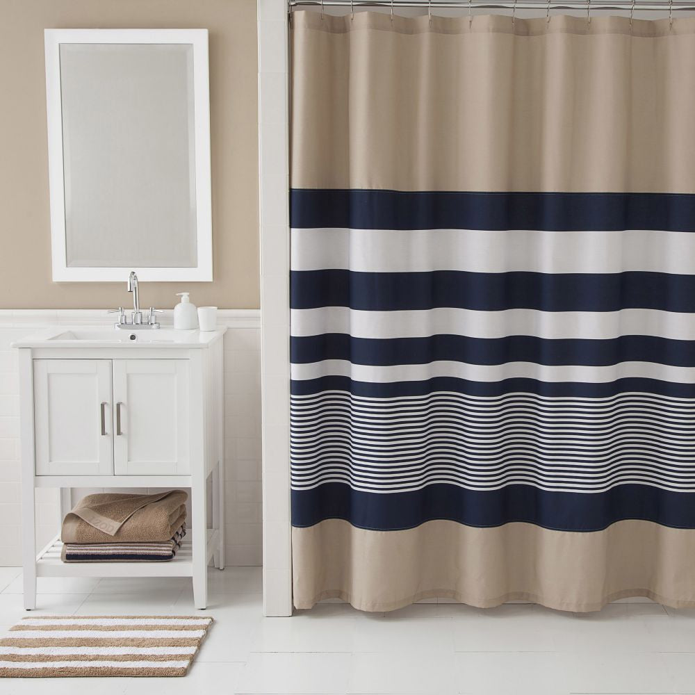 IZOD CLASSIC STRIPE SHOWER CURTAIN