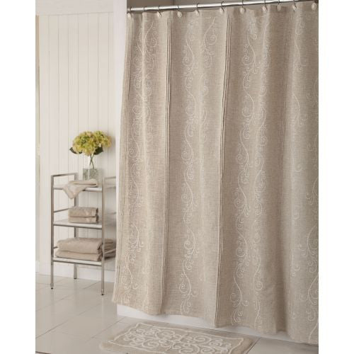 LENOX FRENCH PERLE SHOWER CURTAIN