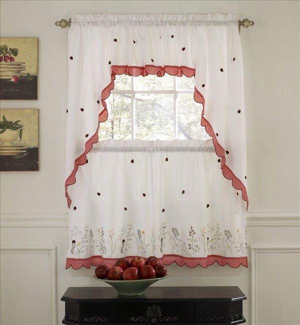 LADYBUG MEADOW KITCHEN CURTAIN