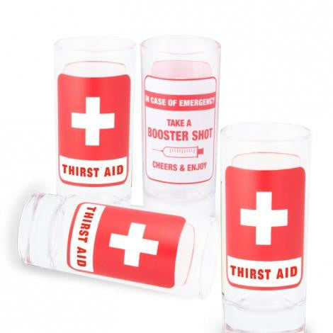 FIRST AID SHOT GLASSES