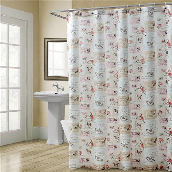 croscill butterfly moments shower curtain