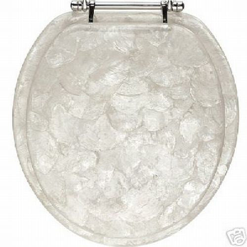 capice mother of pearl toilet seat