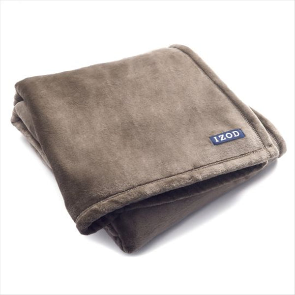 IZOD PLUSH SILVER MINK THROW