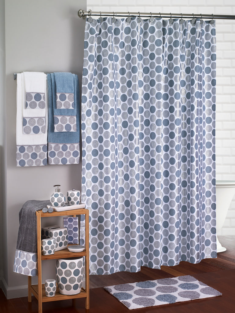 Dotted Circle Shower Curtains Multi