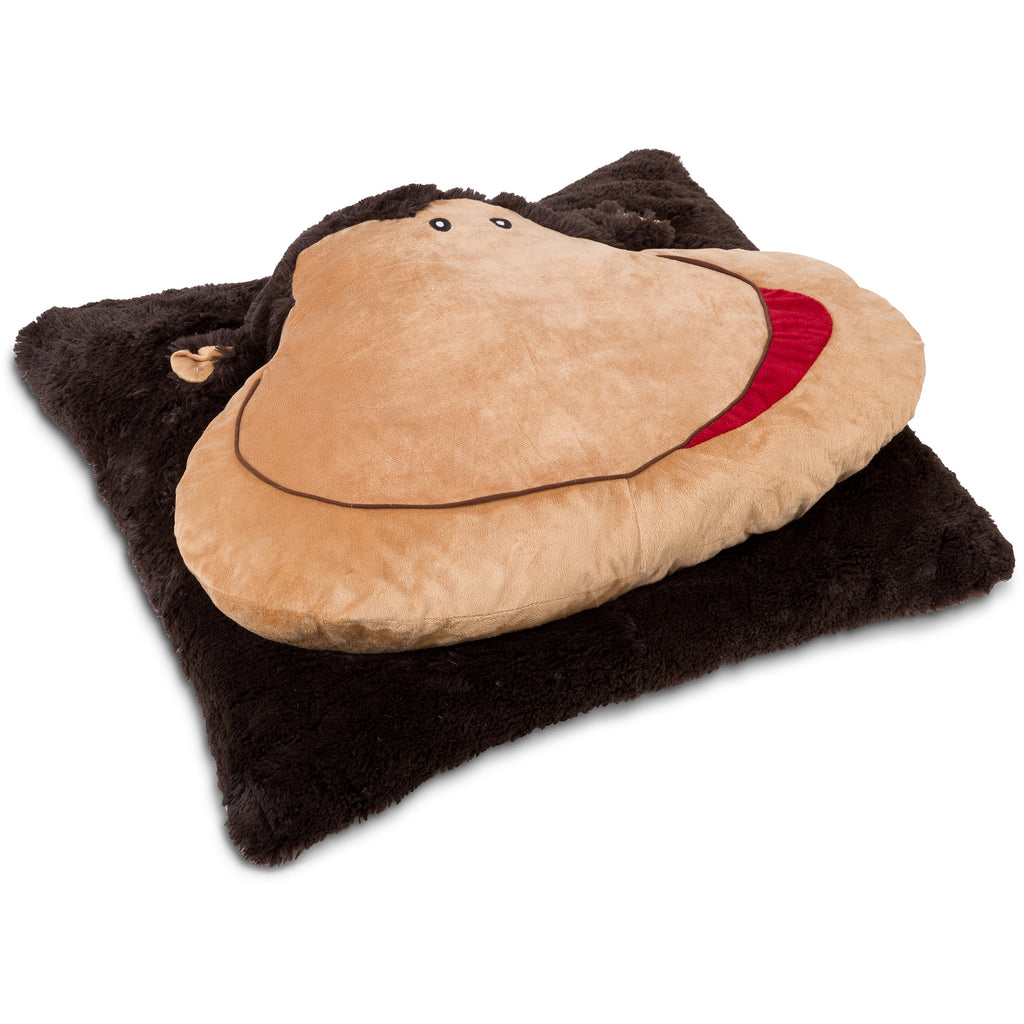 Animal Fun Cushion Over Sized Floor Pillow monkey