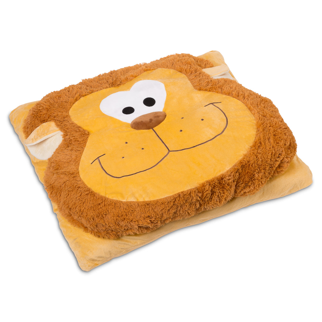 Animal Fun Cushion Over Sized Floor Pillow lion