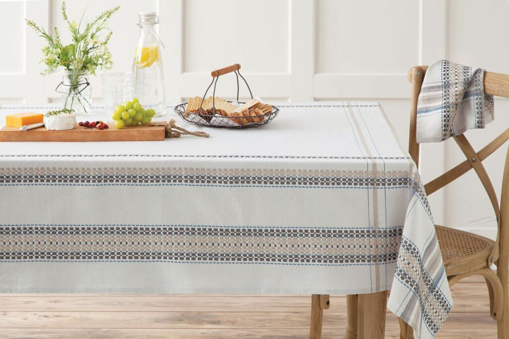FRENCH PICNIC TABLE LINENS BLUE