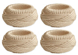 TWISTED ROPE NAPKIN RINGS S/4 NATURAL