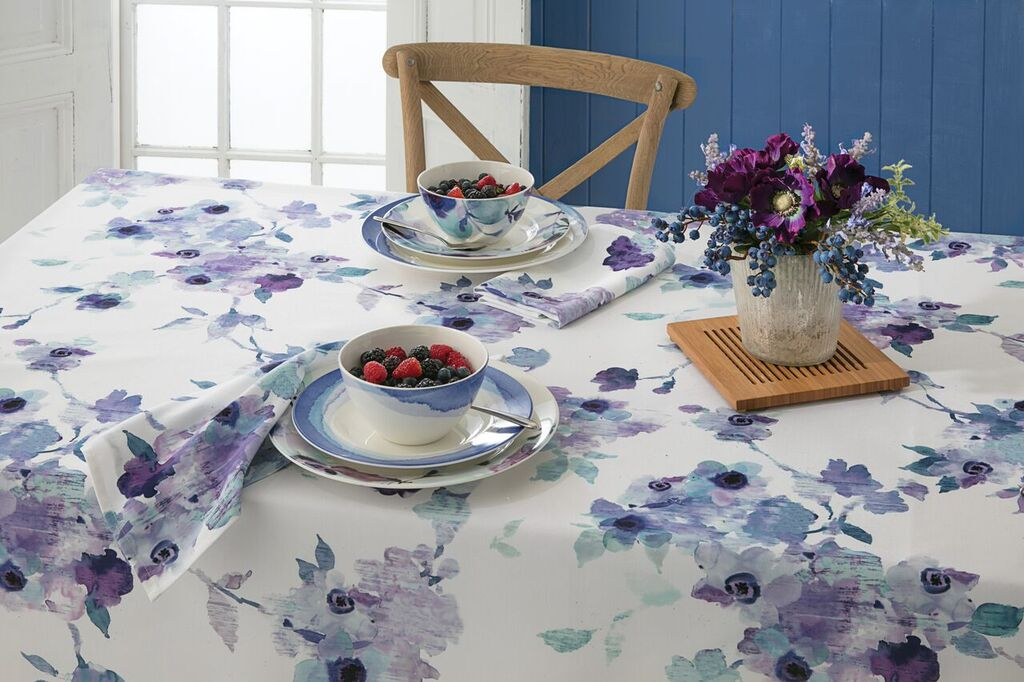 LENOX INDIGO FLORAL TABLE LINENS