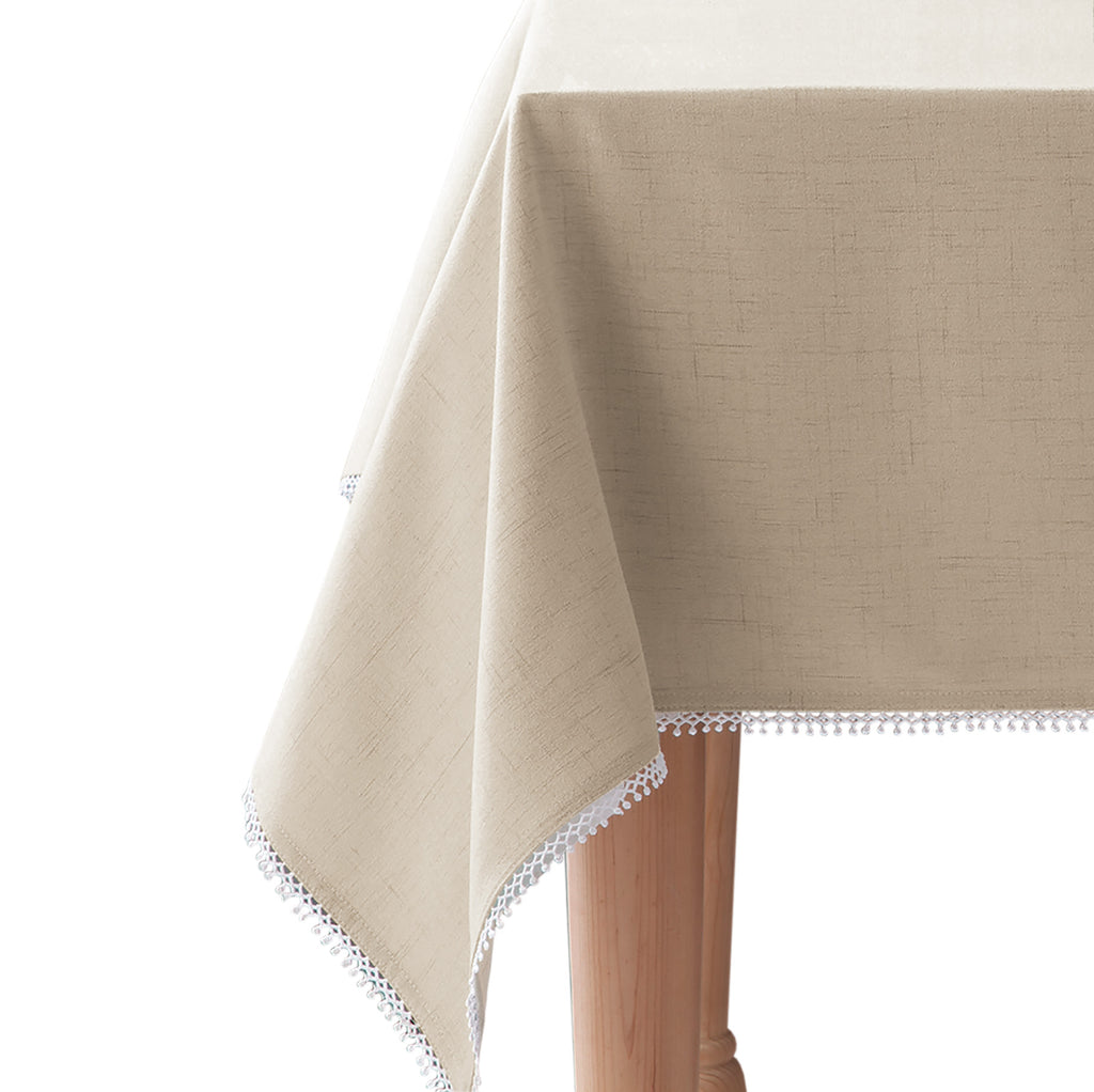 lenox french perle solid tablecloth natural