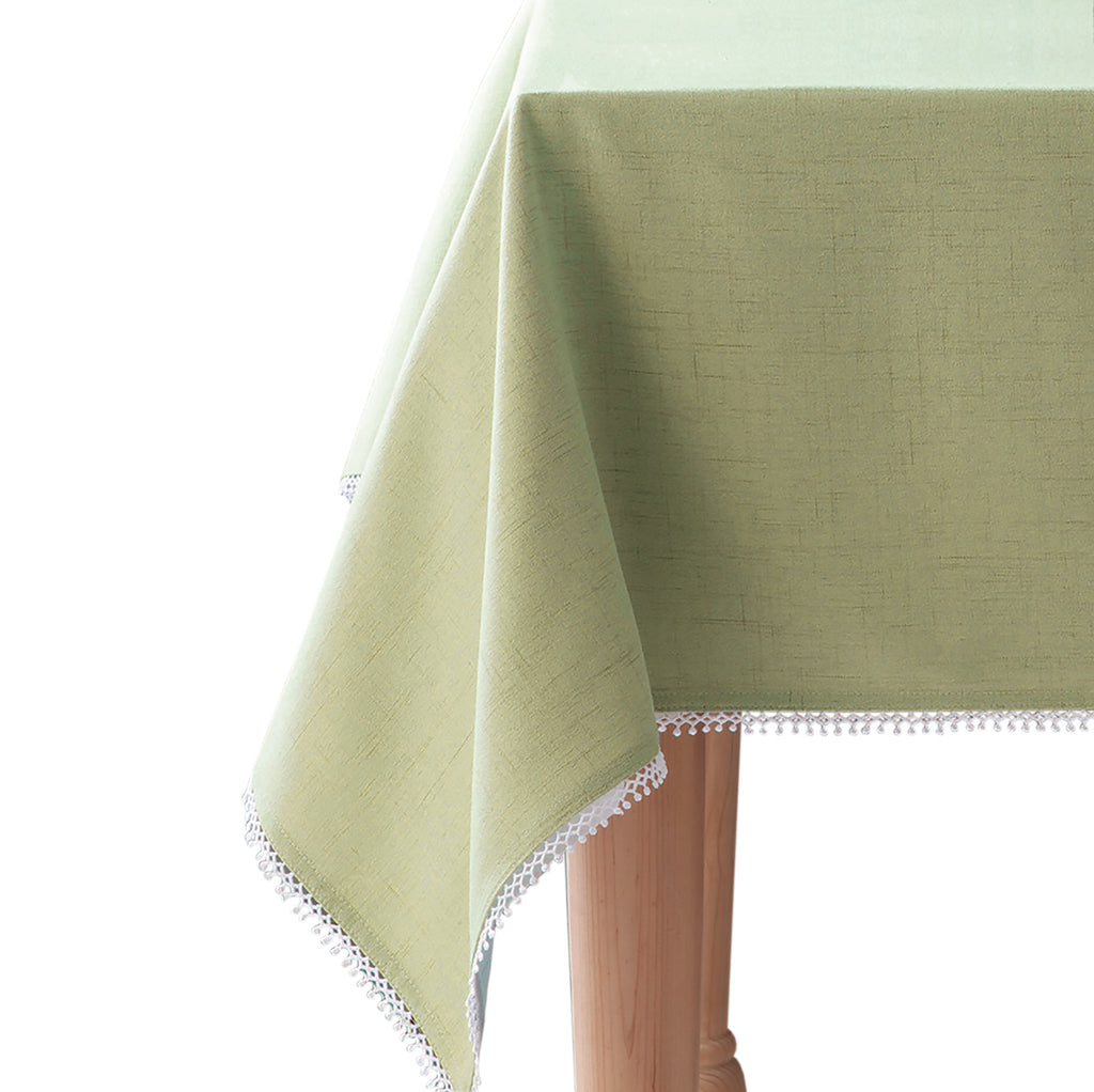 lenox french perle solid tablecloth pistachio green