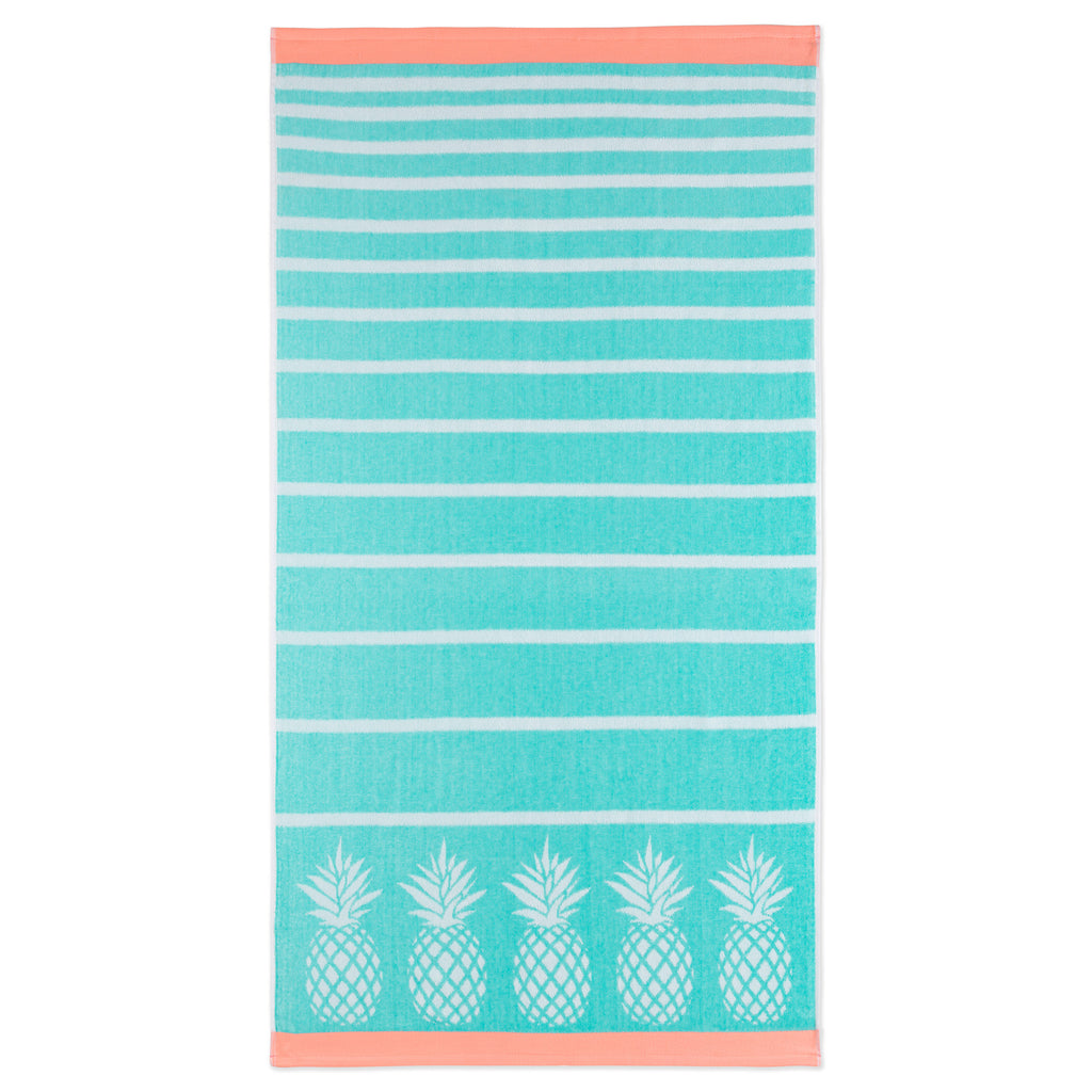 Bright Velour Beach Towels pineapple