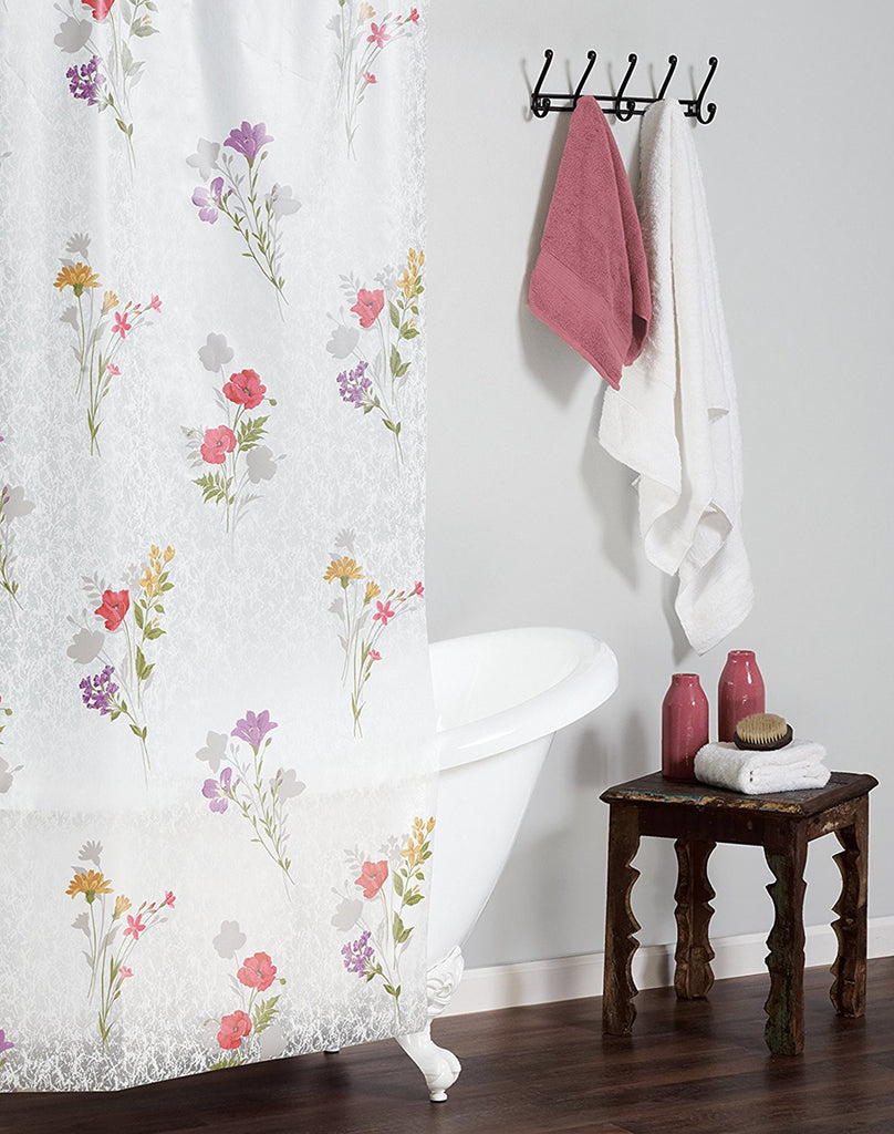 WILD FLOWER SHOWER CURTAIN PASTEL