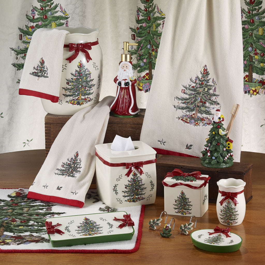 SPODE CHRISTMAS TREE BATH ACCESSORIES