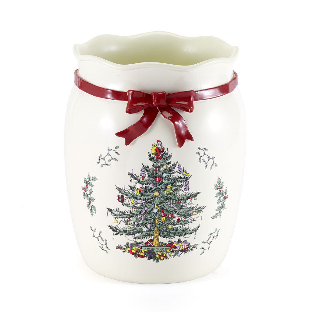SPODE CHRISTMAS TREE BATH ACCESSORIES basket