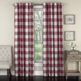 Courtyard Plaid Grommet Curtains red