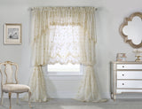 GRANDEUR EMBROIDERED CURTAINS IVORY