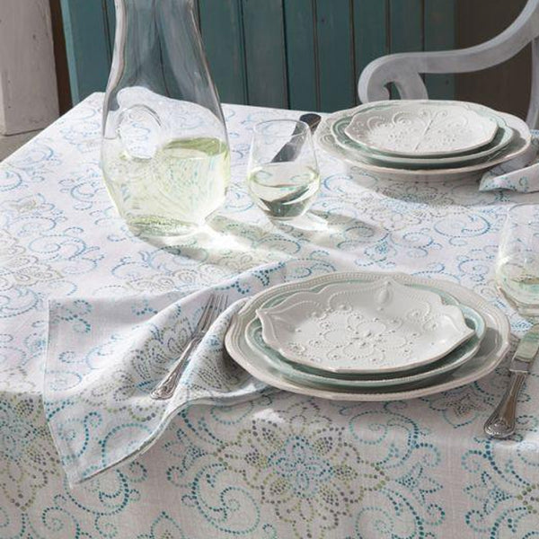LENOX FRENCH PERLE CHARMED TABLECLOTH