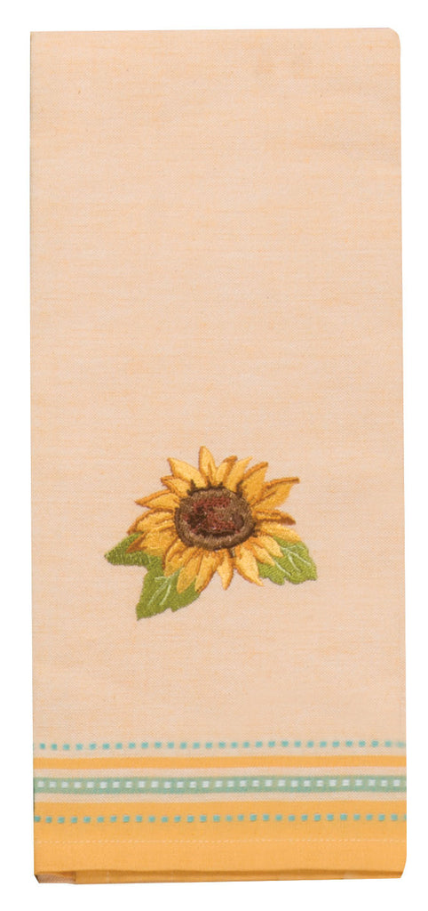 SUNFLOWER FIELDS EMBROIDERED TEA TOWELS