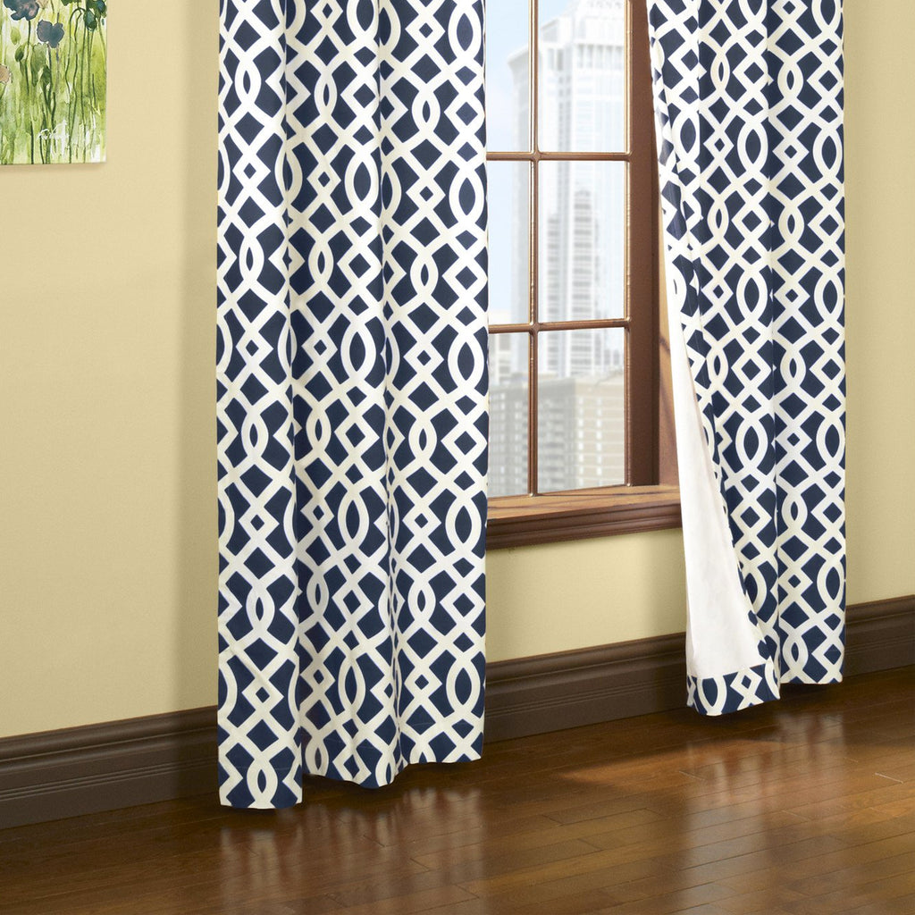 trellis grommet panel navy