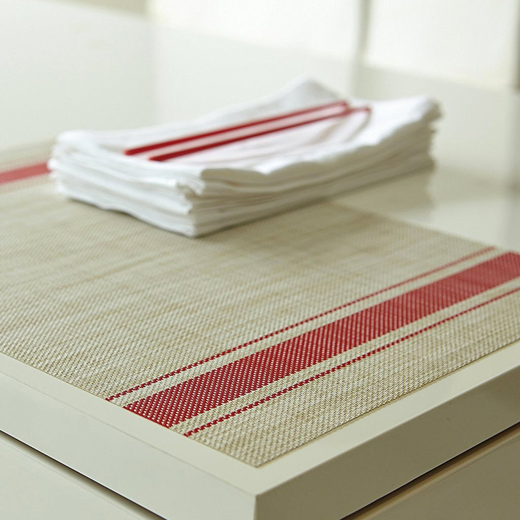 BISTRO STRIPE INDOOR/OUTDOOR PLACEMATS