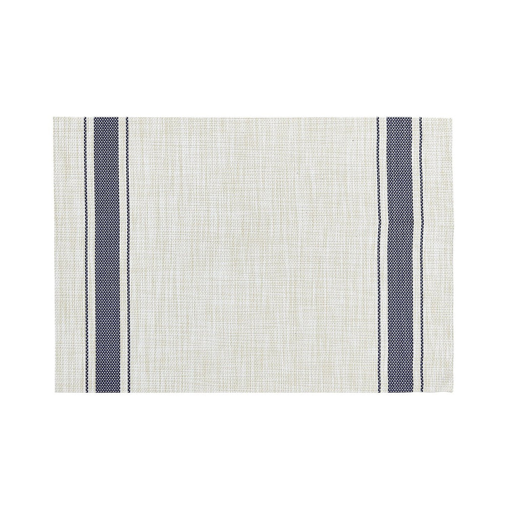 bistro stripe placemat navy