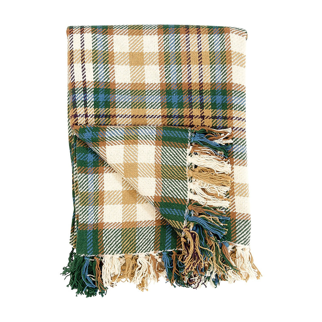BRONWYN PLAID THROW BLANKET
