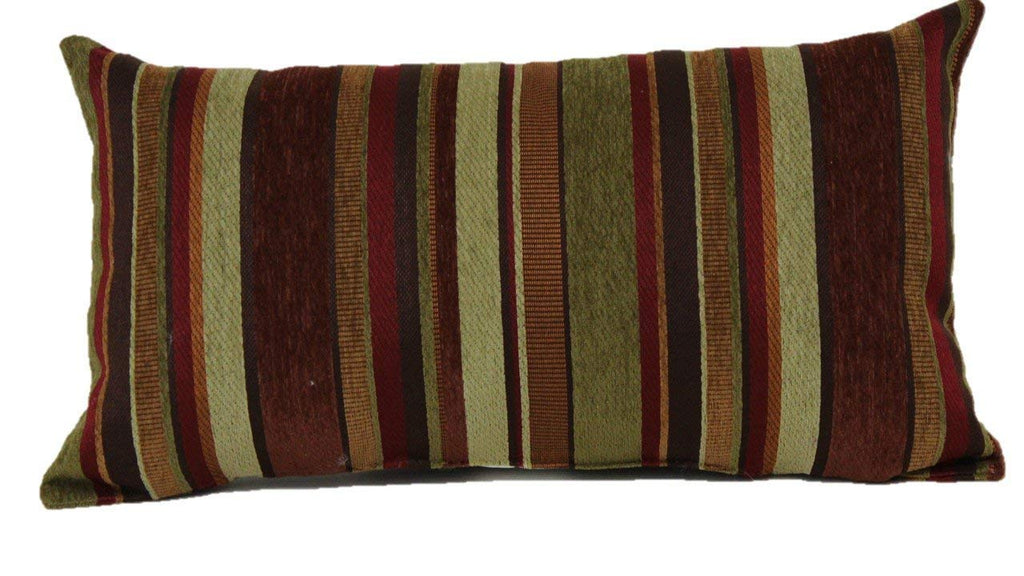 Carnivale Stripe Decorative Pillows copper