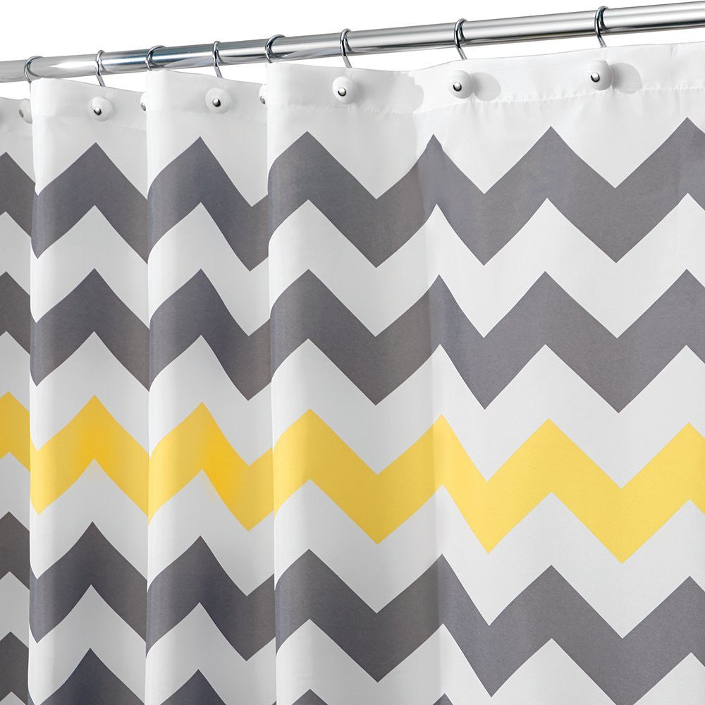 INTERDESIGN CHEVRON SHOWER CURTAIN