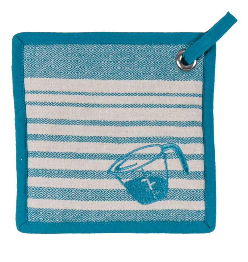 cooks kitchen pot holder teal