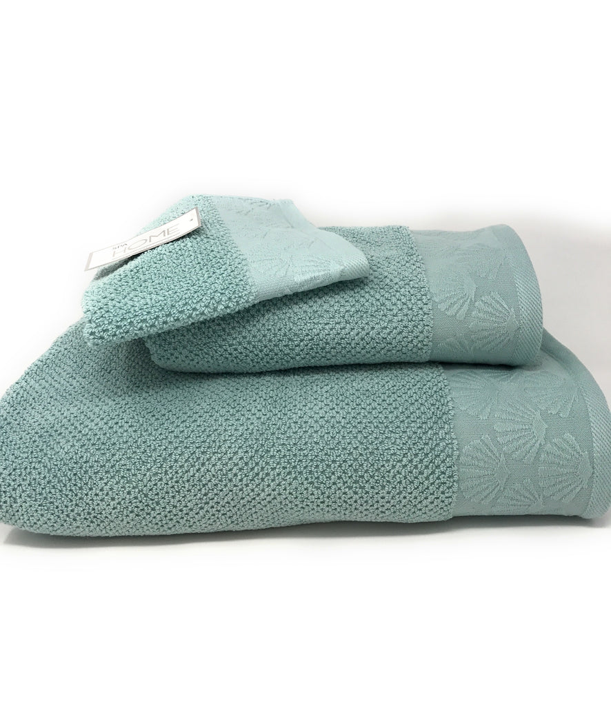 coastal shell towels green