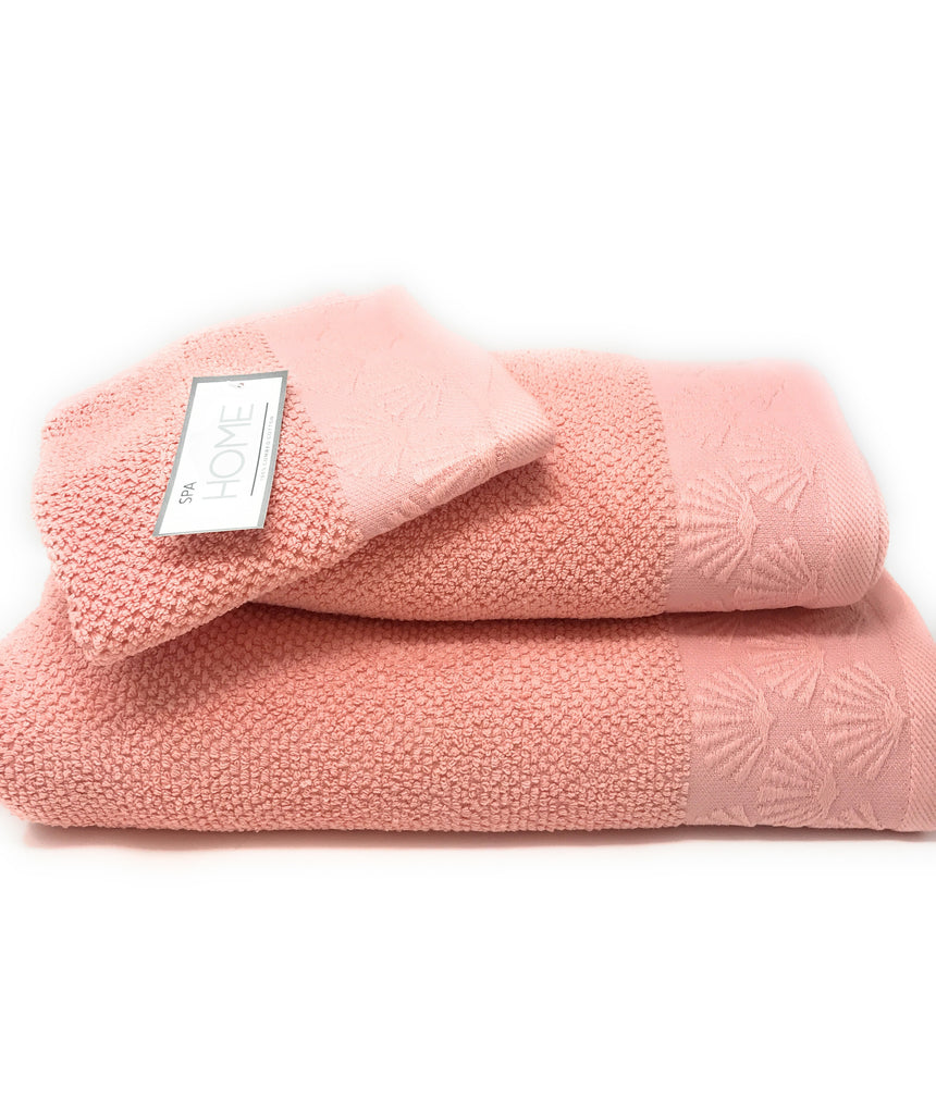 coastal shell towels coral