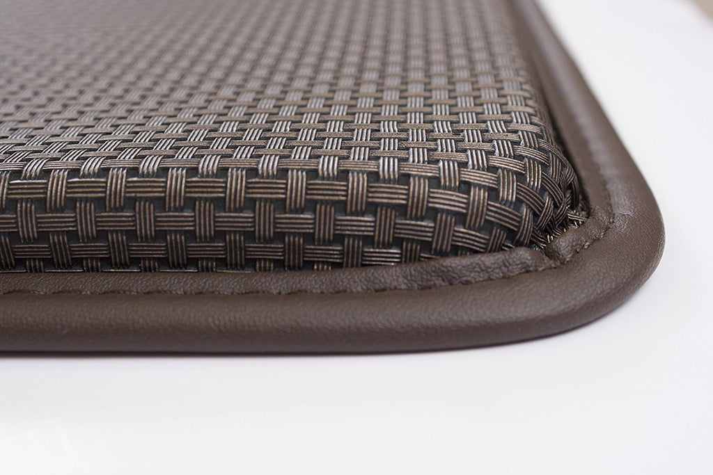 Basketweave Anti Fatigue Cushion Rug brown