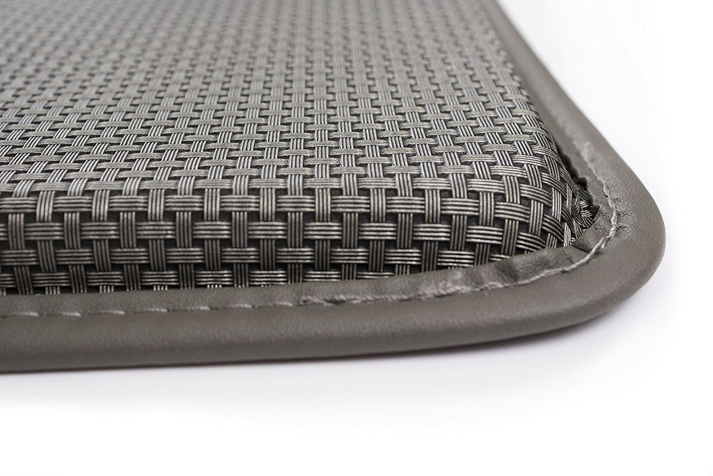 Basketweave Anti Fatigue Cushion Rug grey