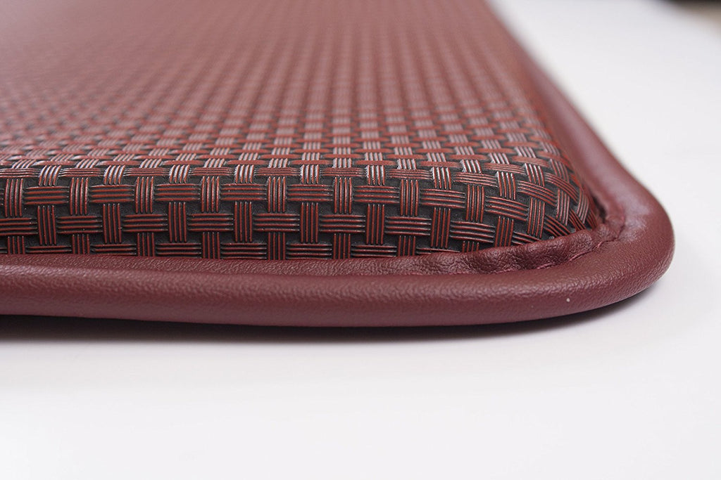 Basketweave Anti Fatigue Cushion Rug red