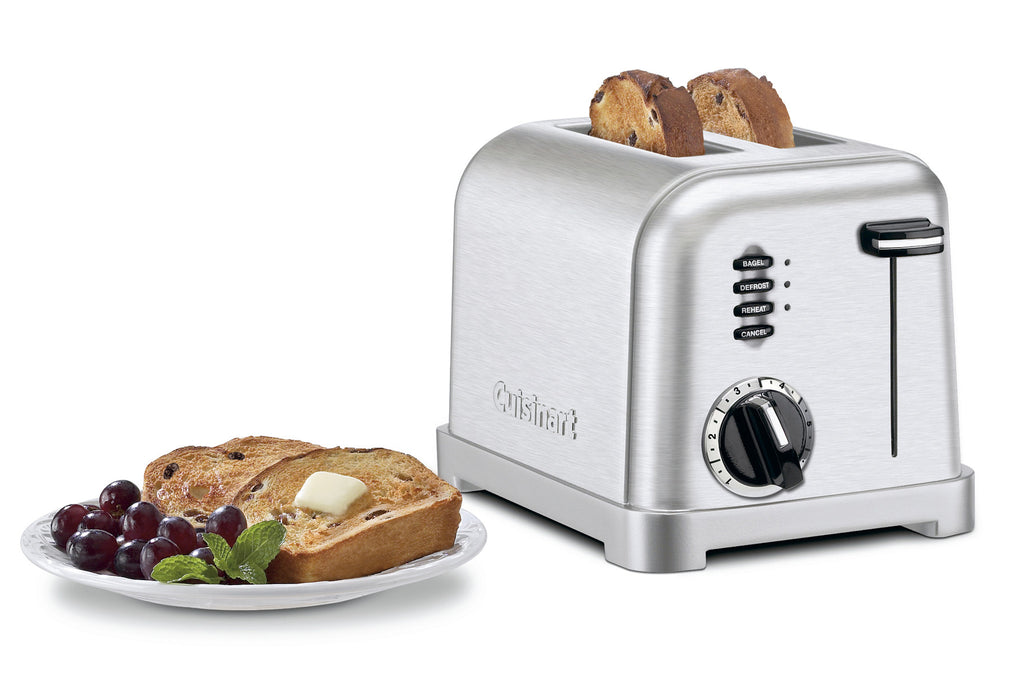 CUISINART COMPACT TOASTER BRUSHED 2 SLICE