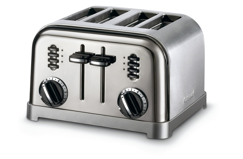 CUISINART COMPACT TOASTER BRUSHED 4 SLICE