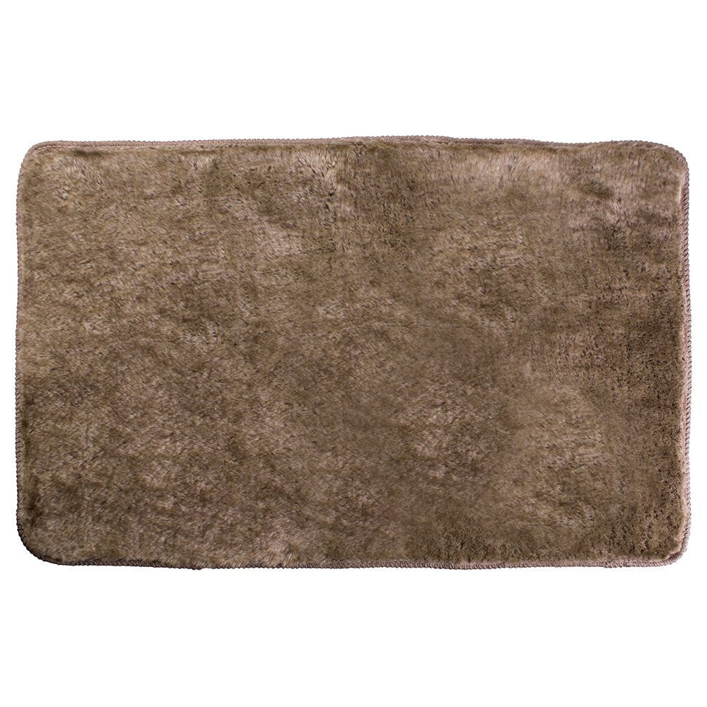 FAUX FUR BATH RUG