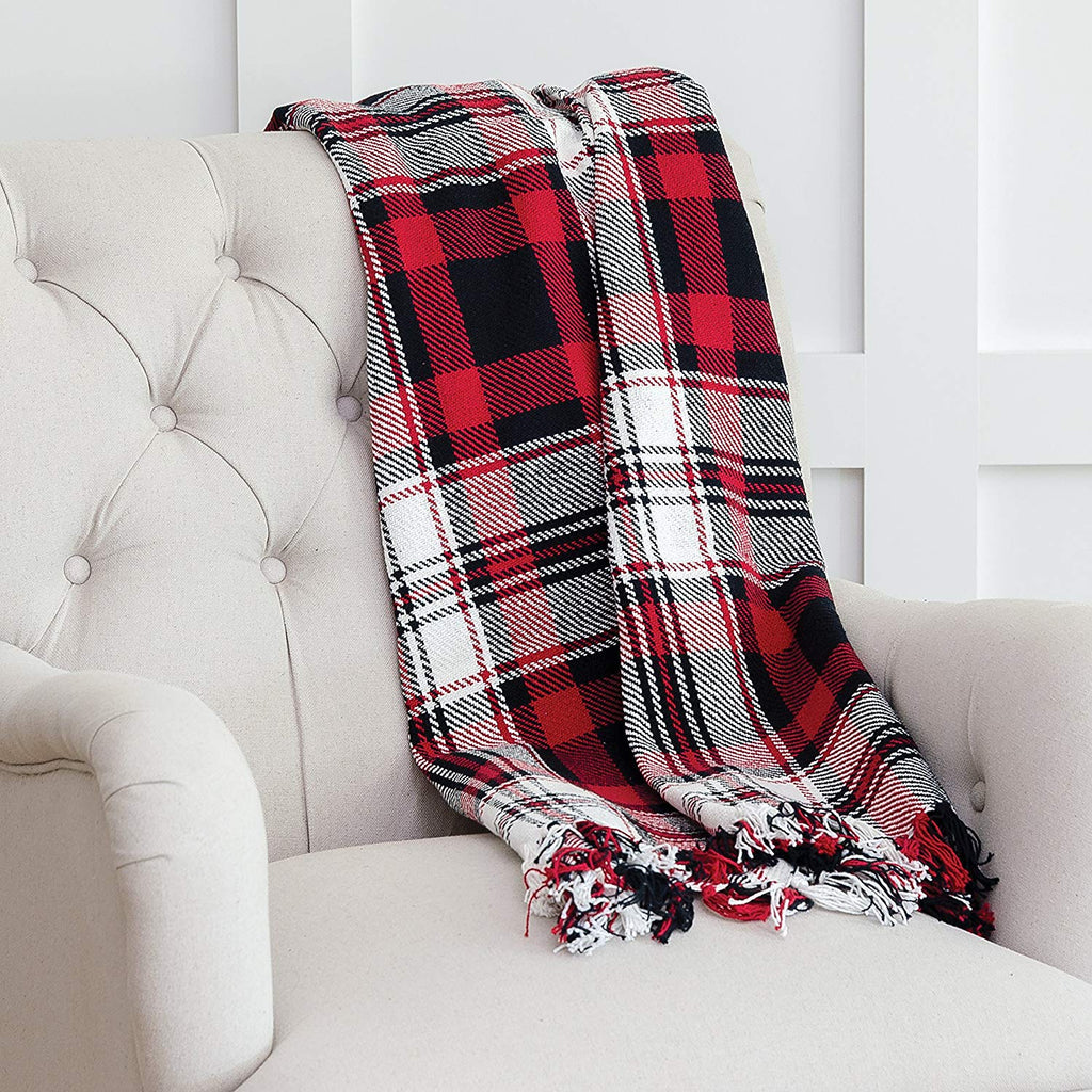 Fireside Plaid Throw And Pillow Throw