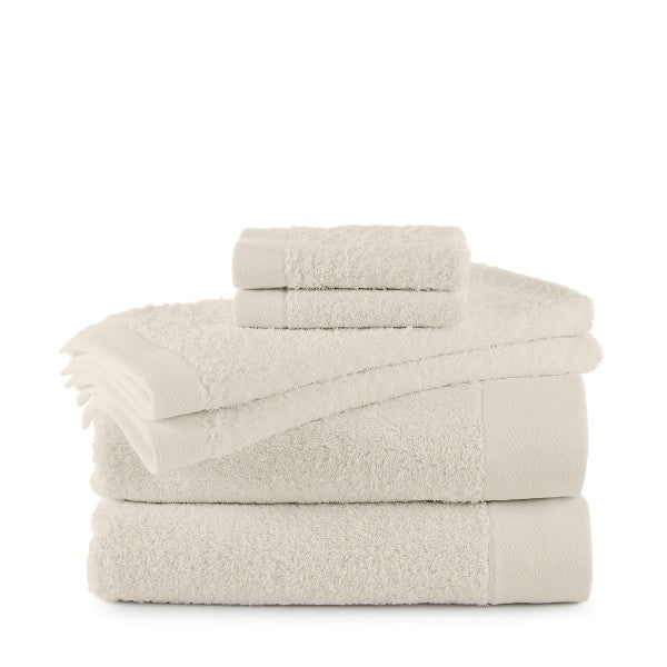 Flatiron Terry Flax Towels ivory