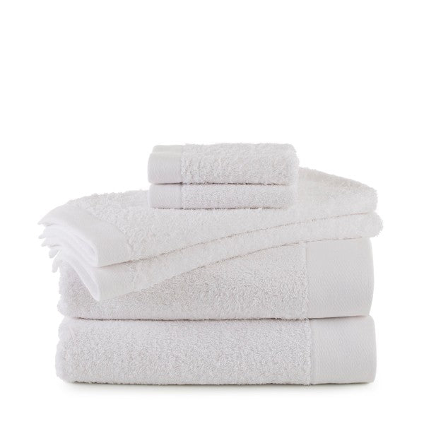 Flatiron Terry Flax Towels white